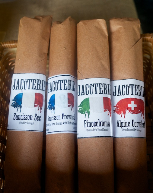 Jacuterie dried sausage charcuterie hand crafted in the Hudson Valley