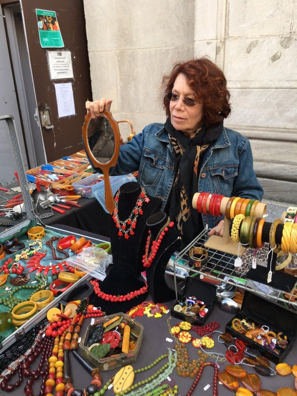 Sheila Strong Sells An Amazing Array of Bakelite Jewelry on Bleecker Street