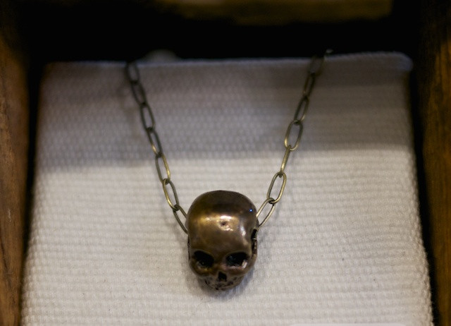Father Panik Anatomical Skull Necklace