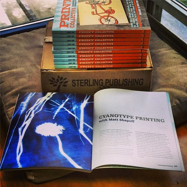 """Matt Shapoff's work had its own chapter in the book, """"Print Colletive,"""" by Jenny Doh in 2013"""