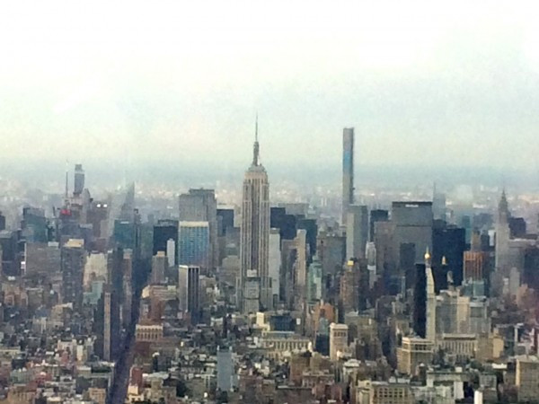 Looking uptown from One World Observatory
