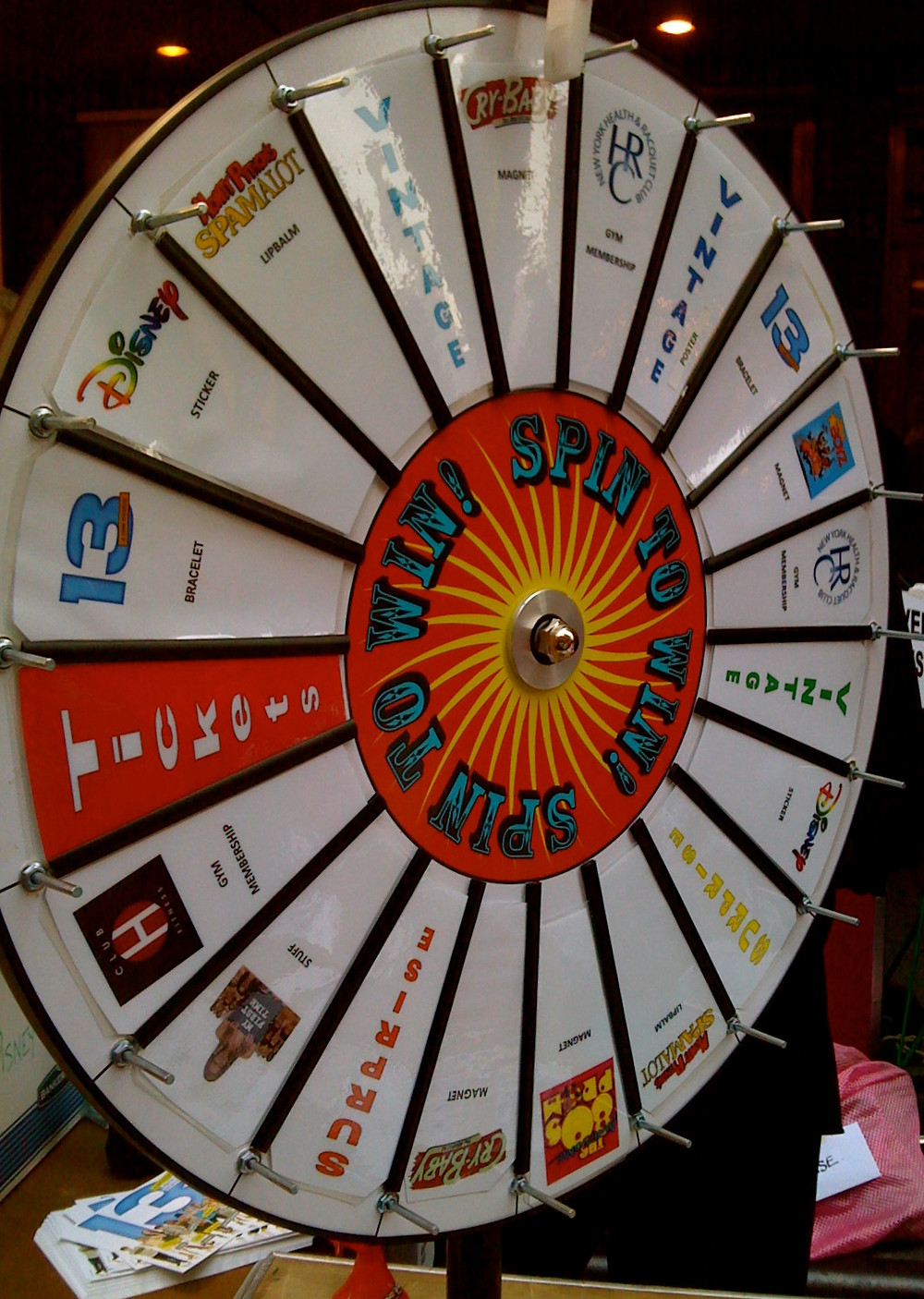 Broadway Cares Live Auction Wheel