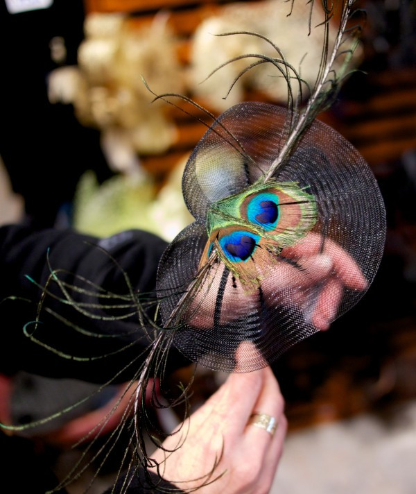 Dora Marra's Peacock and Tulle Fascinator