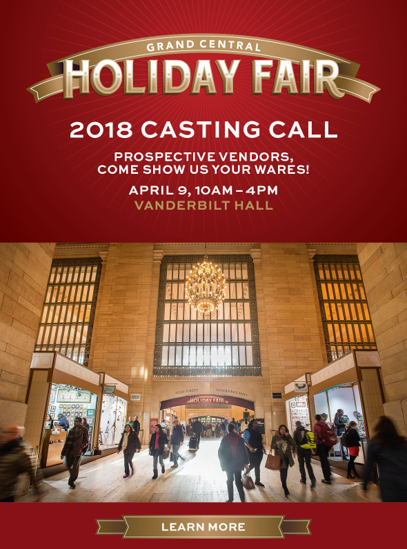 Grand Central Holiday Fair Casting Call 2018