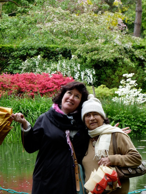 Mom and Karen Monet's garden at Giverny