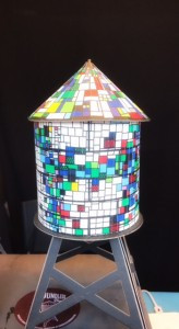 Boundless Brooklyn's Craft Model of Tom Fruin's Water Tower