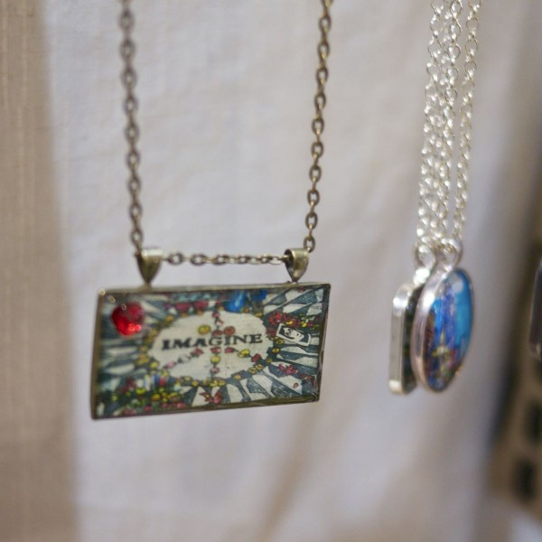 Imagine Art as Jewelry - for the Holidays by PJ Cobbs Arts