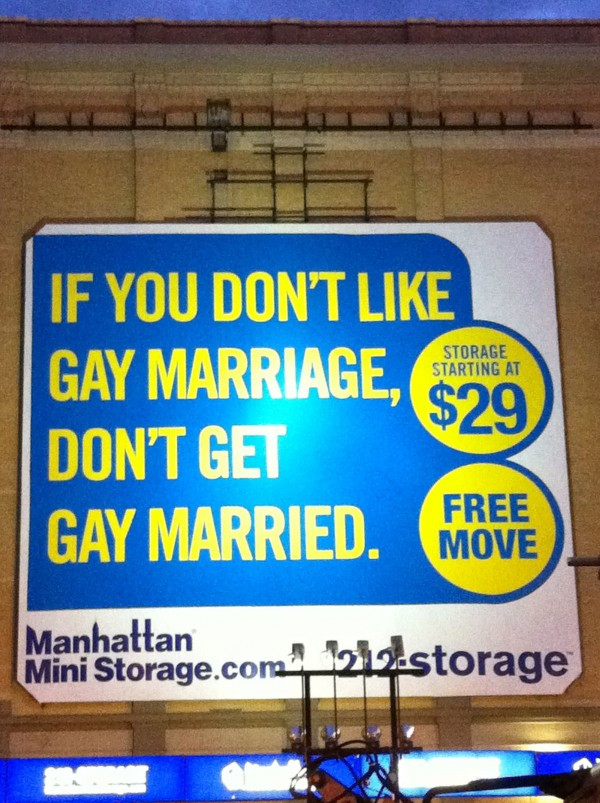 Have to give a shout out to Manhattan Mini Storage for this one!