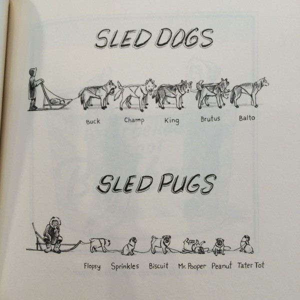 Non-food favorite: Sled Dogs vs. Sled Pugs (courtesy of Matt Diffee)
