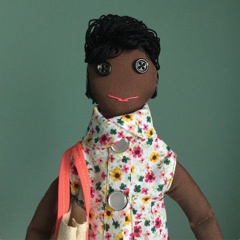 The sweetest Maquina37 handmade doll