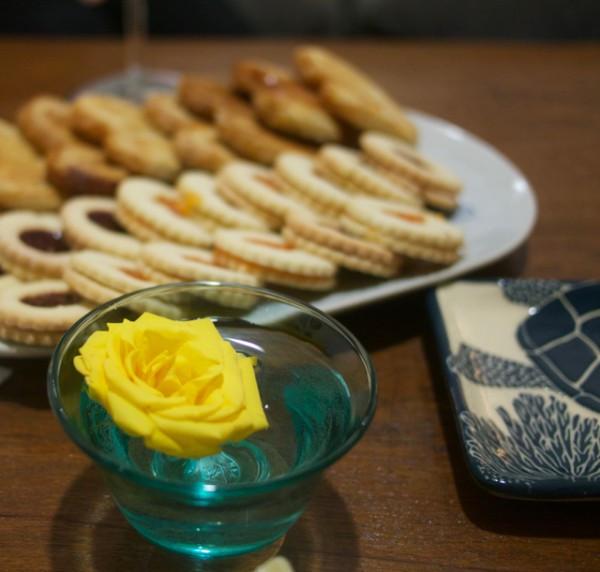 Lovely linzer cookies from Bushwick Bakery
