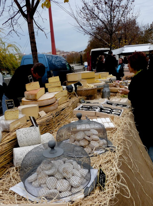 Heavenly French Cheeses at the Saint Antoine Market in Lyon