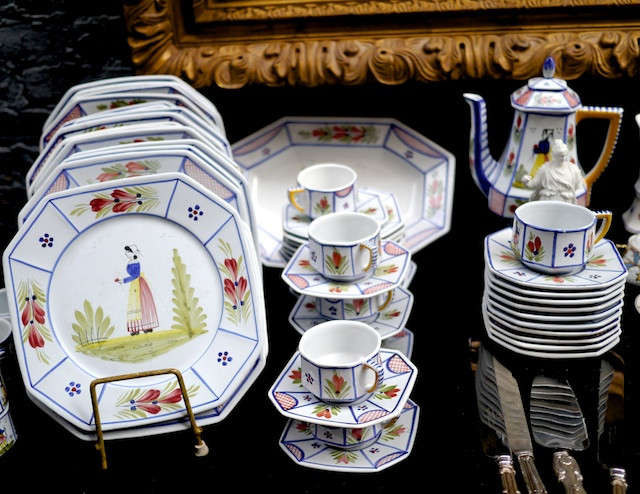 Beautiful French ceramic tableware