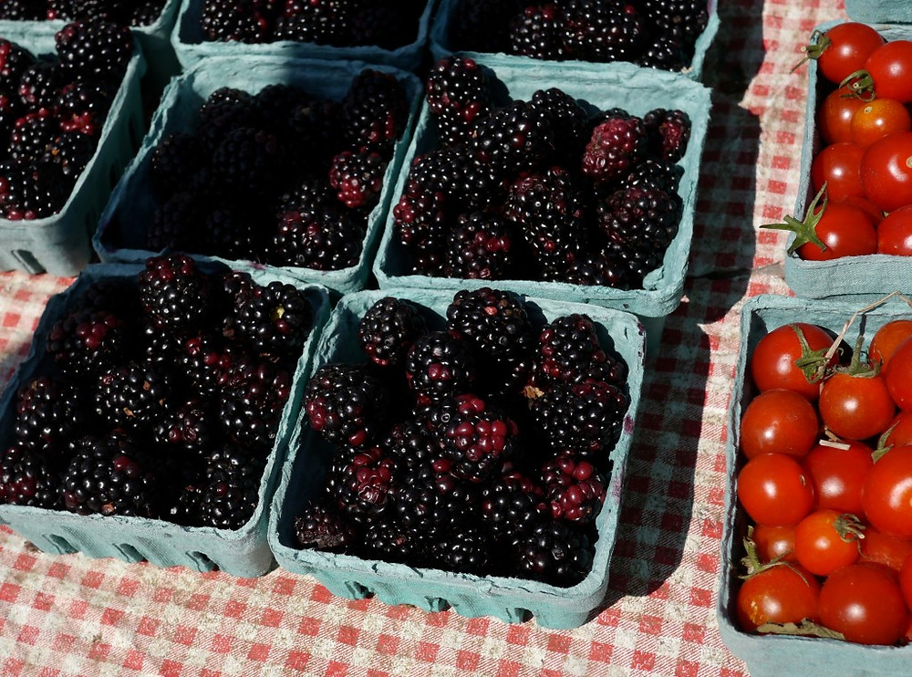 Blackberries at the Brookly Bridge Farmers Market !