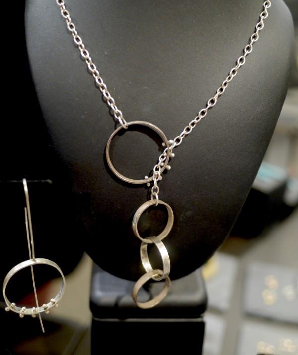Elke Van Dyke Moonscape Lariat Necklace