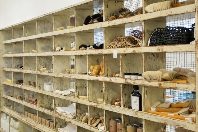 Explore this shelf of beautiful cleaning and scrubbing products