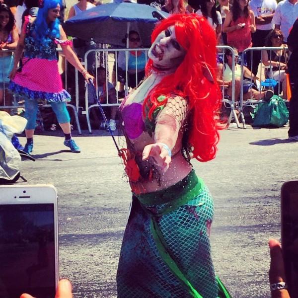 Redheaded Zombie Mermaid