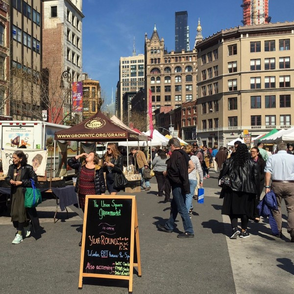 Bright Spring Sunshine in the Union Square Greenmarket