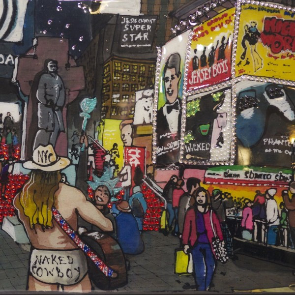 PJ Cobbs painted the Naked Cowboy in Times Square