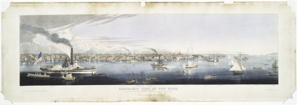 The Miriam and Ira D. Wallach Division of Art, Prints and Photographs: Print Collection, The New York Public Library. (1840). Panoramic view of New York (taken from the North River). Retrieved from http://digitalcollections.nypl.org/items/510d47d9-7c60-a3d9-e040-e00a18064a99