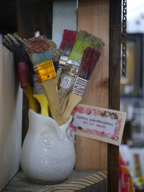 Glitter Brushes at Lucky Street Market
