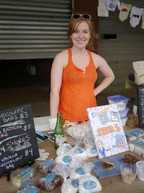 Fred's Marshmallows Maker Karen at Fulton Stall Market
