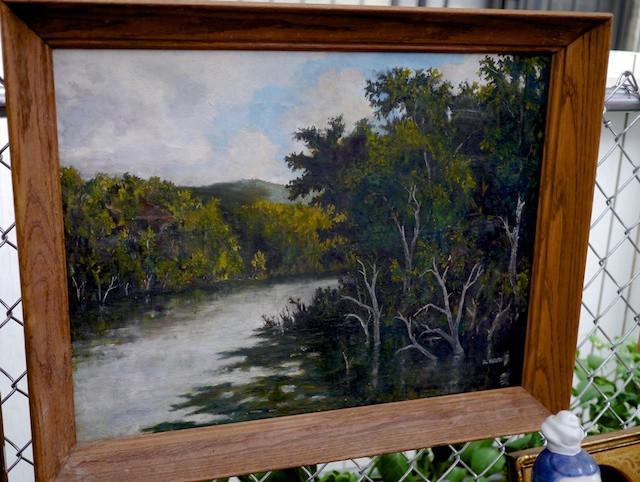 Landscape painting from antiques vendor Jose Manuel Cebalos at the Chelsea Flea Market