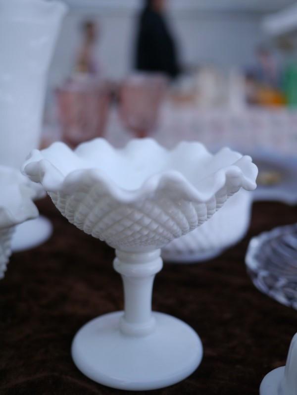 Fenton Milk Glass Pedestal Bowl
