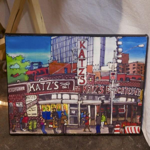 Katz's Deli by Artist PJ Cobbs