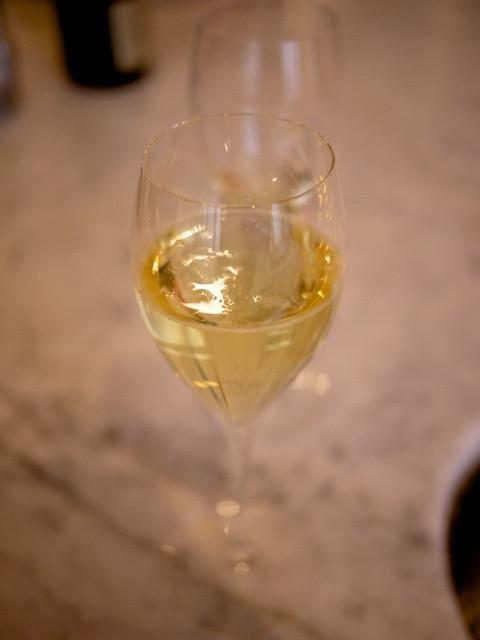 Tasting Pol Roger champagne in their tasting room in Epernay