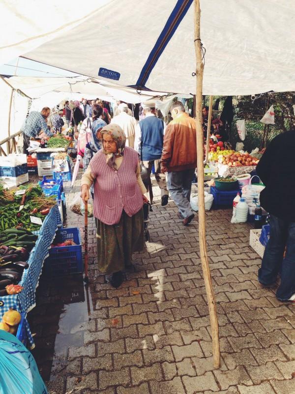 Market Shopper at the Friday Market in Fethiye, Turkey
