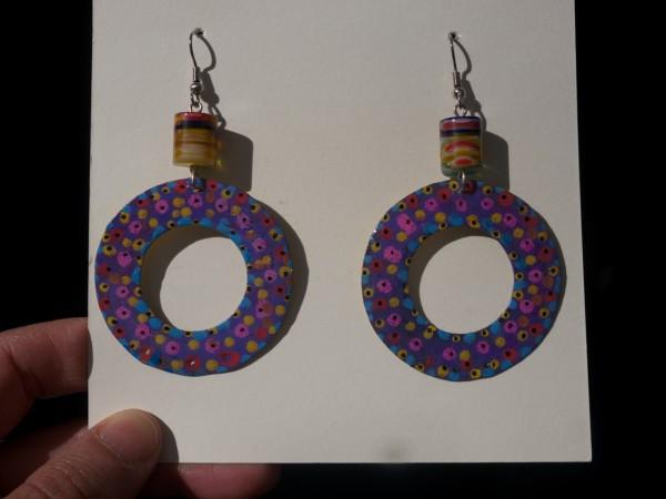 Handpainted earrings Dudley Vaccianna