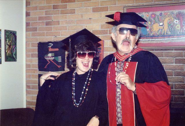 Dad and Karen graduation 1988