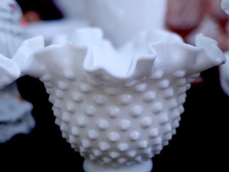 Tresore Trove: A Cache of Fenton Hobnail Milk Glass