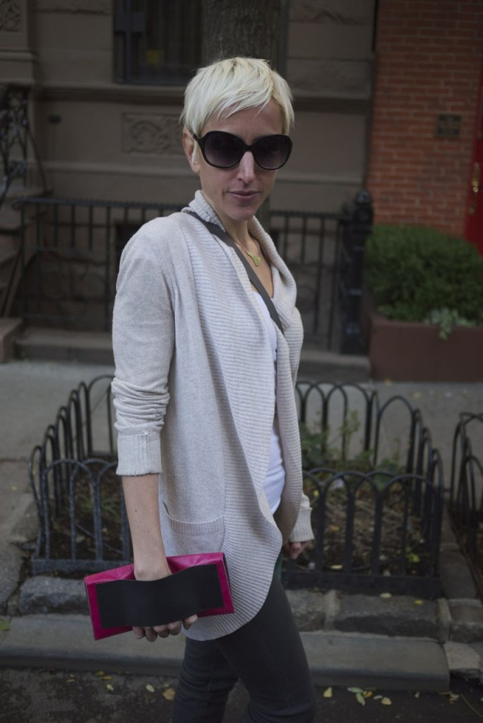 Lola Falk with Stella Travel Clutch