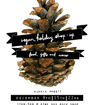 Visit the Vegan Holiday Shop-Ups for Food and Gifts