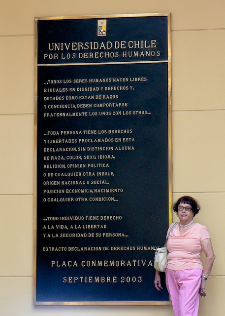 Mom visiting her alma mater, the University of Chile, in 2006