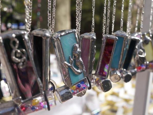 Fantasy Glass-Works Mermaid Kaleidoscope Necklace