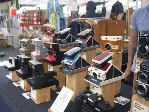 Film and Polaroid Cameras refurbished, vintage, and new from Brooklyn Film Camera at the Brooklyn Flea