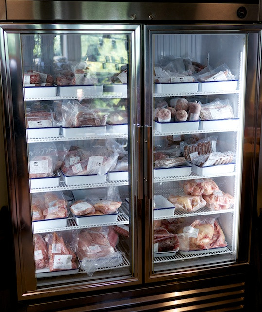 Take home farm-raised meats from the gift shop freezer