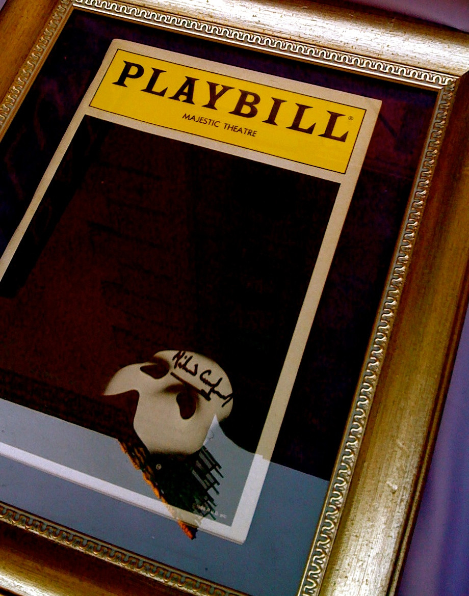 Market: Playbill autographed by Michael Crawford
