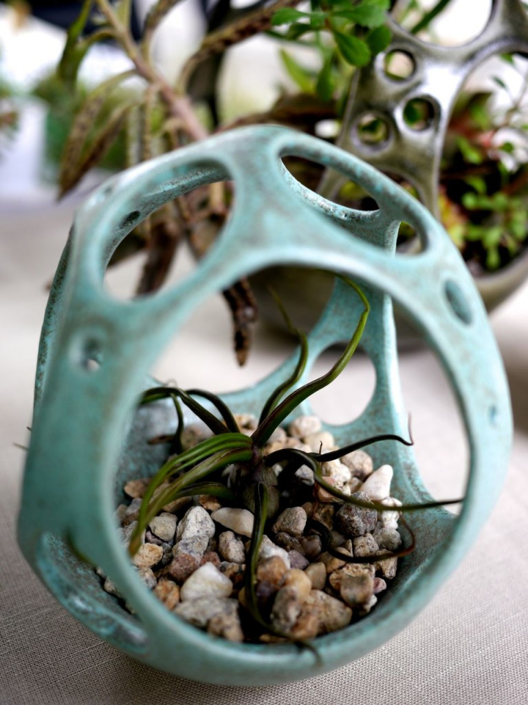 Sweet Blue Ceramic Planter by Kamspots