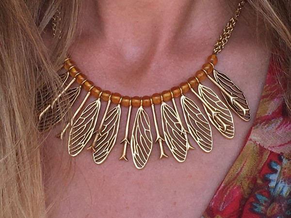 I adore this cicada wing and twig necklace by Orchard Jewelry, farm-inspired designs