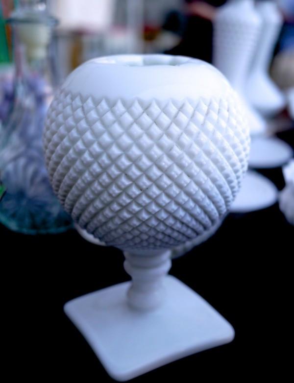 Fenton Milk Glass Orb Vase from Tresore Trove at the Astoria Flea