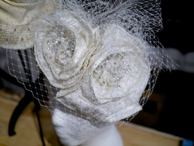 Katherine Carey Millinery Wedding Roses