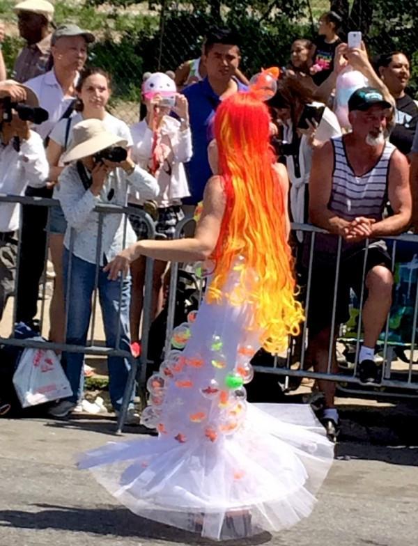 Neon Orange Mermaid