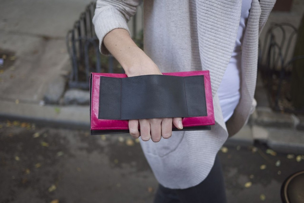 Secure Grip Strap on the Stella Travel Wallet Clutch