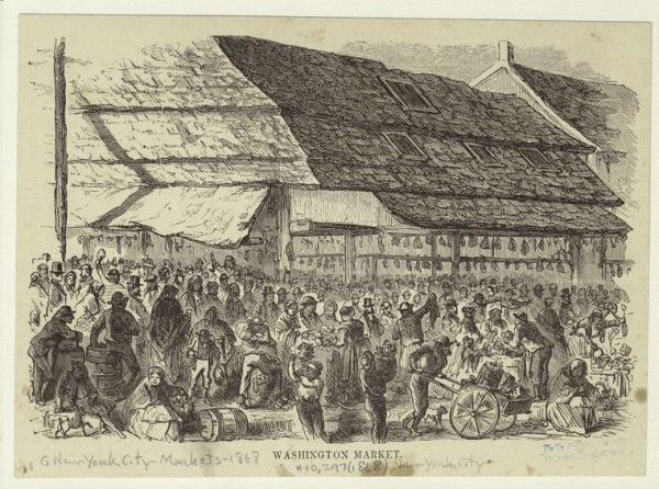 Art and Picture Collection, The New York Public Library. (1868). Washington Market. Retrieved from http://digitalcollections.nypl.org/items/510d47e0-d82c-a3d9-e040-e00a18064a99