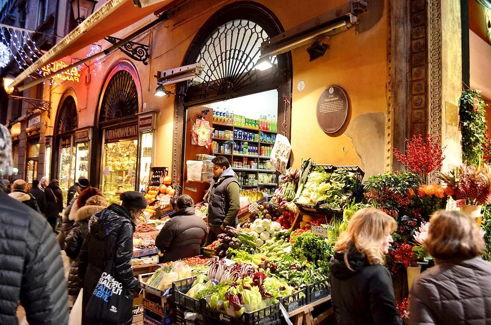Market Shopping in Bologna (Source: LandLopers.com)