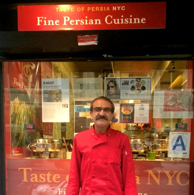 Saeed Pourkay, Chef and Owner of A Taste of Persia on 18th Street in NYC